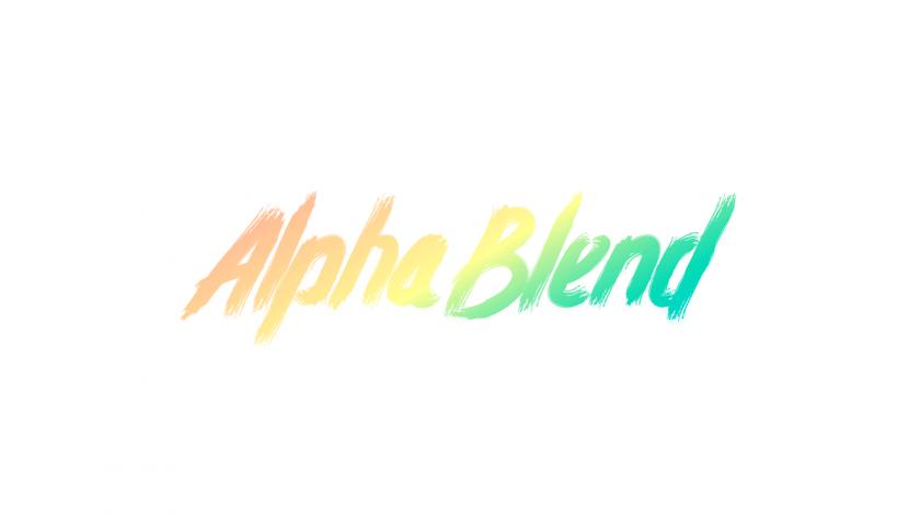 アルファブレンドのイメージ。