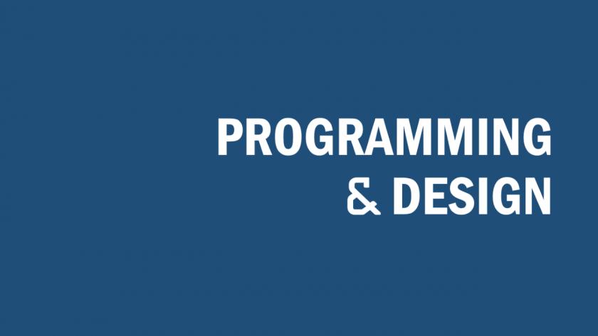 プログラミングとデザインのイメージ。